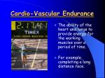 cardio vascular endurance