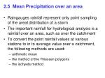 2 5 mean precipitation over an area