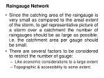 raingauge network