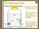 decomposing alkali metal compounds