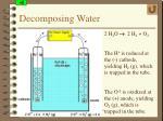 decomposing water