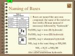 naming of bases