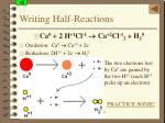 writing half reactions