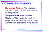 categories of ethics13
