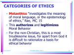 categories of ethics14