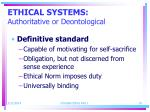 ethical systems authoritative or deontological19