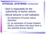 ethical systems existential27