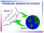 problem source of ethics