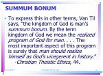summum bonum10