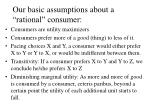 our basic assumptions about a rational consumer