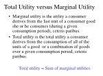 total utility versus marginal utility
