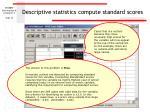 descriptive statistics compute standard scores16