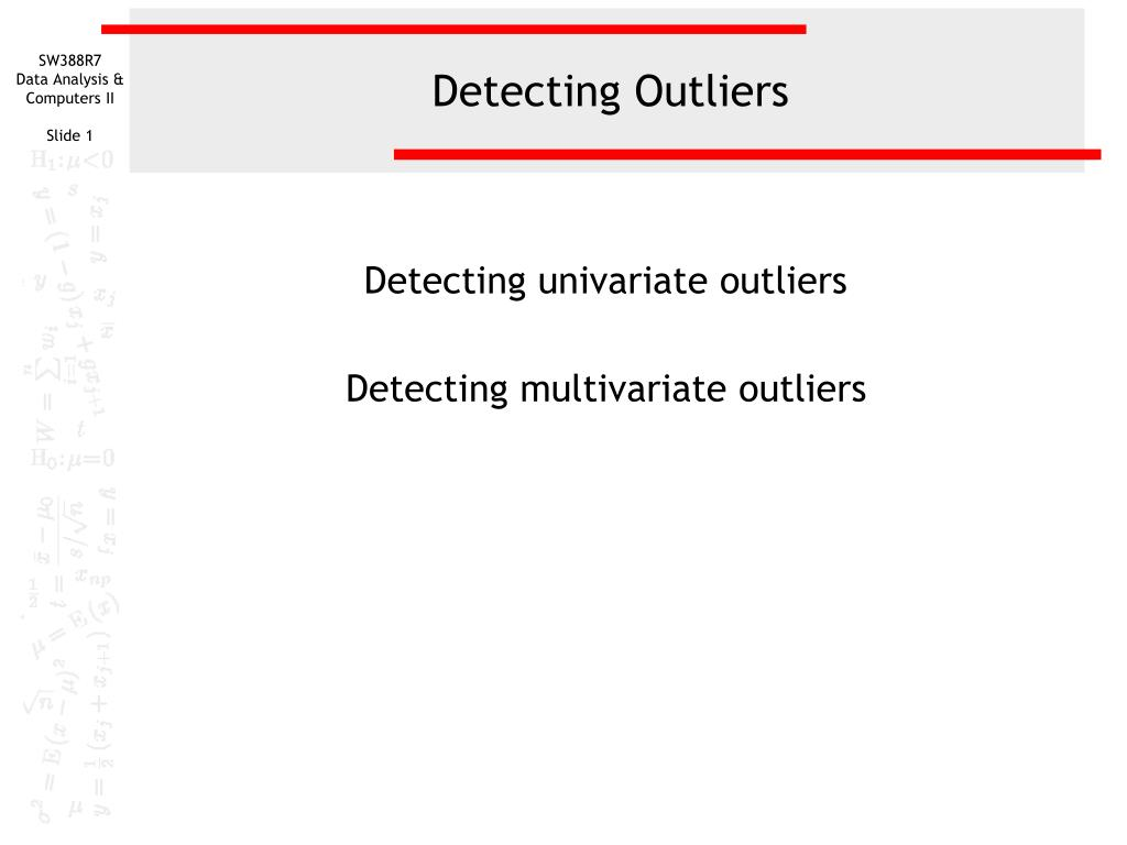 detecting outliers l.