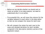 evaluating mulitivariate outliers