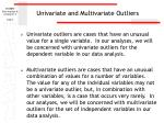 univariate and multivariate outliers