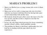 maria s problem i