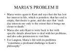 maria s problem ii