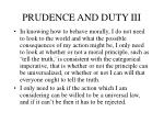prudence and duty iii