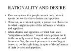 rationality and desire