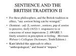 sentience and the british tradition ii