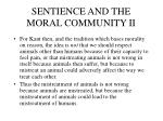 sentience and the moral community ii
