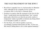 the nazi treatment of the jews i