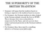 the superiority of the british tradition