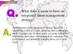 what does it mean to have an integrated talent management strategy