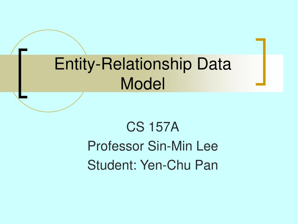 entity relationship data model l.