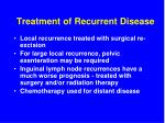 treatment of recurrent disease