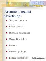argument against advertising
