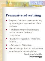 persuasive advertising