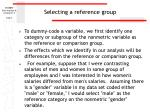 selecting a reference group