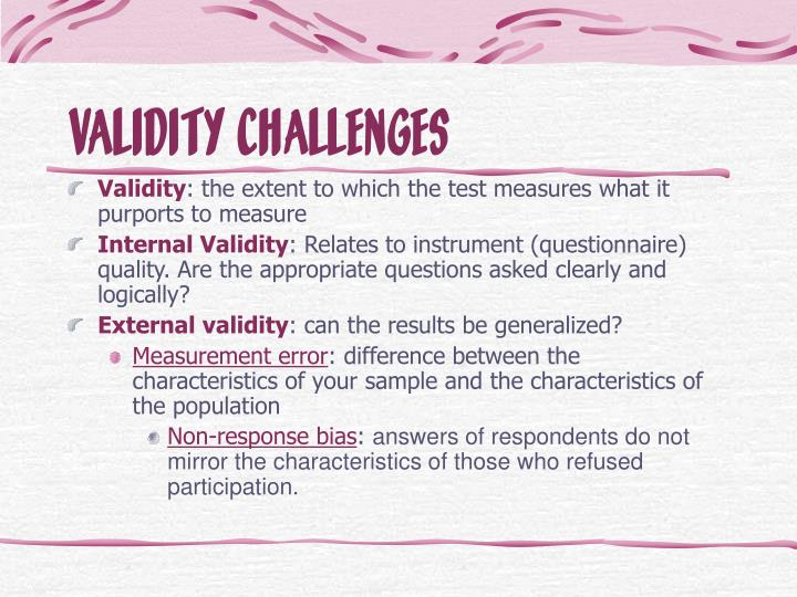 internal and external validity in research methodology pdf