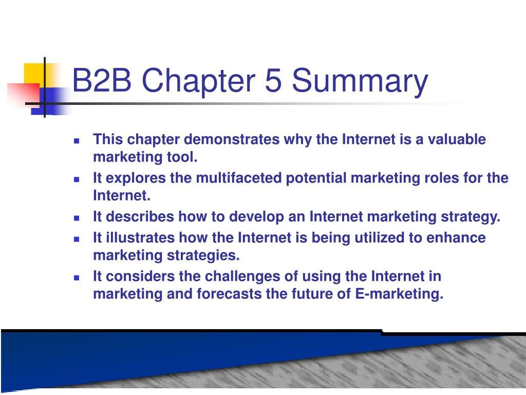 B2B Chapter 5 Summary