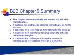 b2b chapter 5 summary