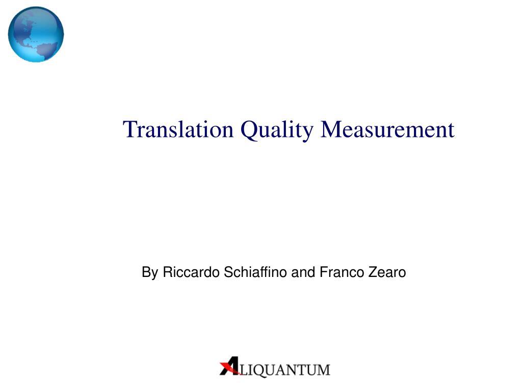 translation quality measurement l.