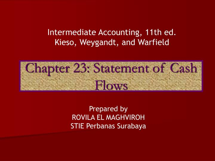 chapter 23 statement of cash flows n.
