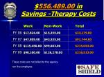 556 489 00 in savings therapy costs