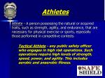 athletes