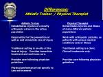 differences athletic trainer physical therapist