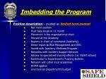 imbedding the program