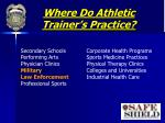 where do athletic trainer s practice