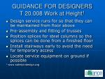 guidance for designers t 20 008 work at height 1