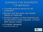 guidance for designers t 20 009 roofs 1