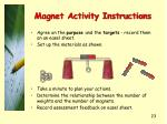 magnet activity instructions