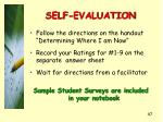 self evaluation
