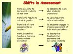 shifts in assessment