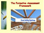 the formative assessment framework