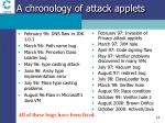 a chronology of attack applets